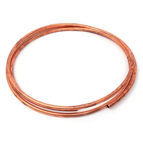 qinggw 1 PZ 1/4 Pollici Bobina di Rame Rossa 6.35mm5 / 7/10 / 20m R410A Aria condizionata in Ottone Morbido Tubo Tubo Tubo del Tubo di Rame 99.9% T2 Rame Fai da Te coolin (Taglia : 5m)