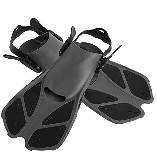 Aletas para esnórquel Aletas de natación Ajustables con talón Abierto para esnórquel, Buceo, natación, Adultos, jóvenes(XL)