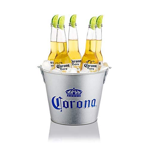 Corona Extra Embossed Galvanised Ice Bucket 'Cubo' by Corona