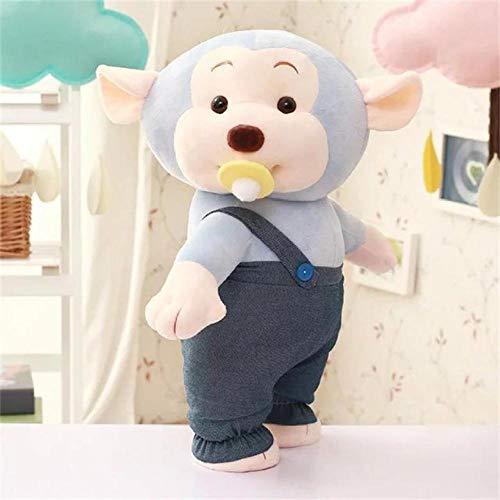 HJYHXY Pantalones de Correa de 35 cm Comiendo un pezón Mono muñeca de Mezclilla de Peluche de Juguete niños-Pacifier_35cm