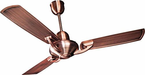 Crompton Triton Decorative Ceiling Fan with Electroplated Finish - 1200 mm (Antique Copper)