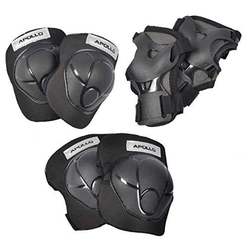 Apollo Schutzausrüstung Set für Kinder, Schoner für Knie Ellenbogen Handgelenk, Protektoren zum Inliner Skateboard BMX Radfahren