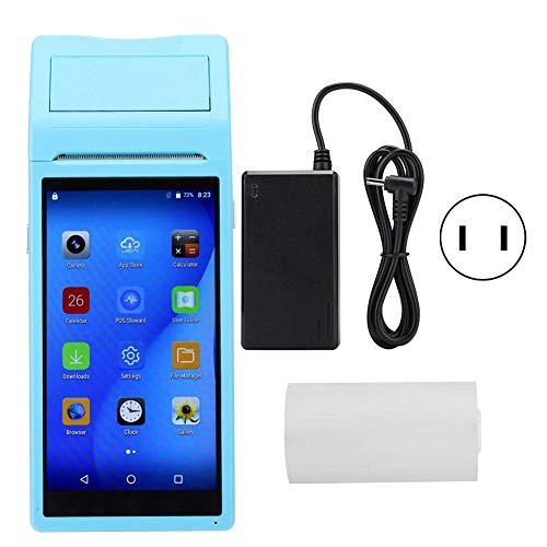 Kafuty-1 Imprimante Bluetooth 58MM pour Smartphones Android/iOS Imprimante de Poche 3G Quad Core 1 + 4G Bleu 110-240v(Prise UE)