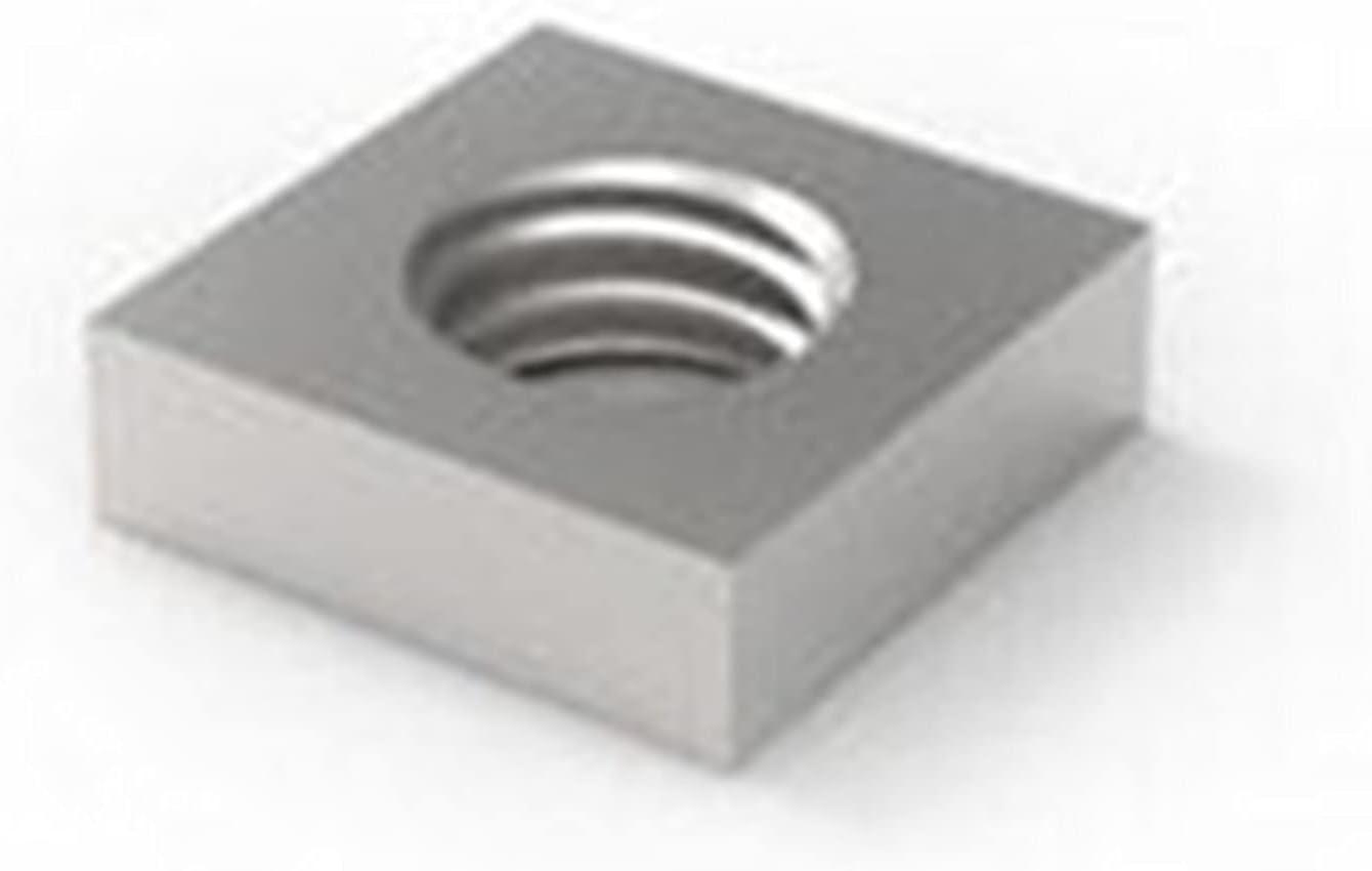 LWCHJ 500pcs lot Galvanized Thin Bloc Square Max 86% OFF Nut Nuts Some reservation Quadrangle