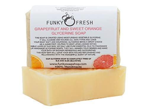 Grapefruit & Sweet Orange Glycerine Soap, 100% Natural & Handmade, 95g