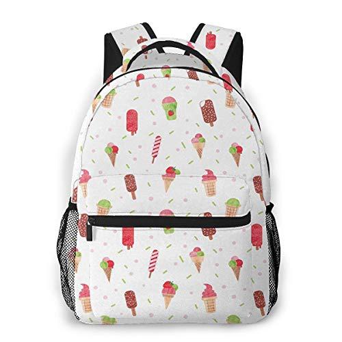 Rucksack Männer Und Damen, Laptop Rucksäcke für 14 Zoll Notebook, Dessert EIS Kinderrucksack Schulrucksack Daypack für Herren Frauen