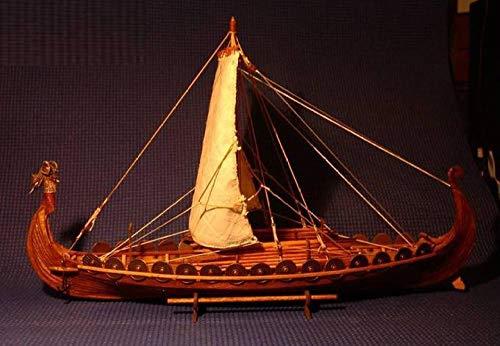 SIourso Maquetas De Barcos Kit Modello Barco De Vela De Escala De Madera Barco De Escala De Madera 1/50 Barcos Vikingos Modelo De Montaje A Escala Kit De Construcción De Barcos Barco De Escala