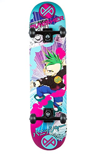 Punisher Skateboards Anime komplett Skateboard mit convace Deck