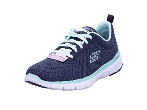 Skechers Women's Flex Appeal 3.0 Trainers, Blue (Navy Aqua Nvaq), 8 UK 41 EU