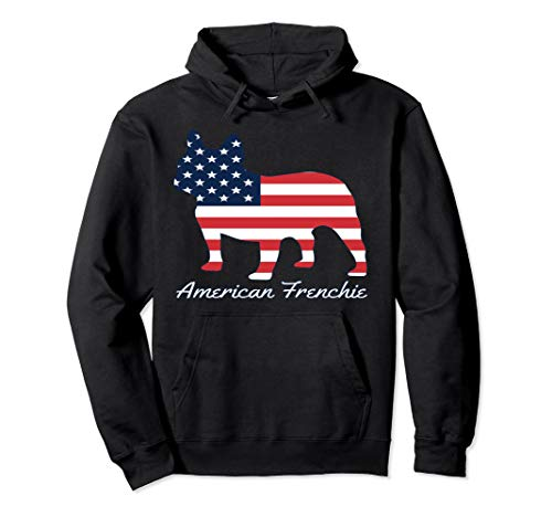 French Bulldog Dog Hoodie - American Frenchie 4th of July