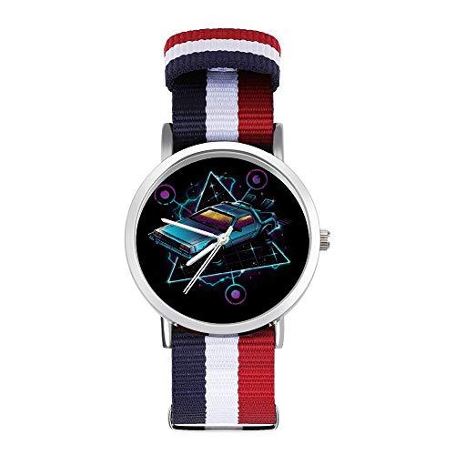 Zurück in die Zukunft Delorean Retro Wave Freizeit Armband Uhren Geflochtene Uhr mit Skala