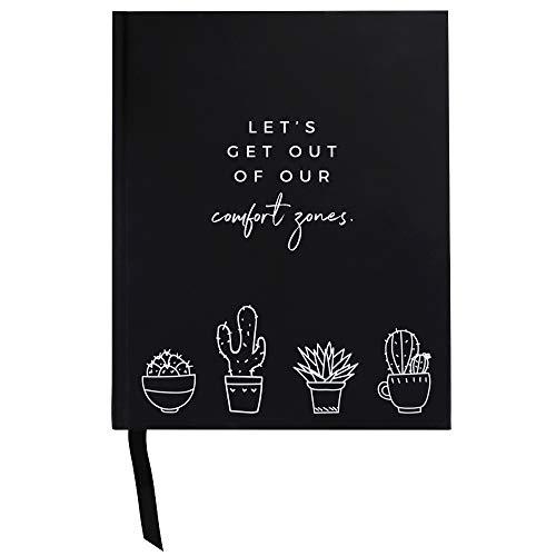 Odernichtoderdoch Daily Planner | Let\'s get out of our comfort zones | 17,5 x 21,5 cm - Schwarz - Hardcover - 312 Seiten - ohne Kalendarium