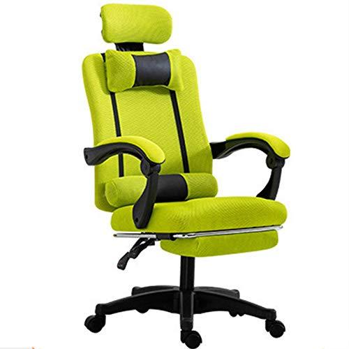 SuRose Sillas de juego, silla de oficina para juegos, resistente al desgaste, ajustable para TV y cine relajante, trabajo de ocio (color gris)