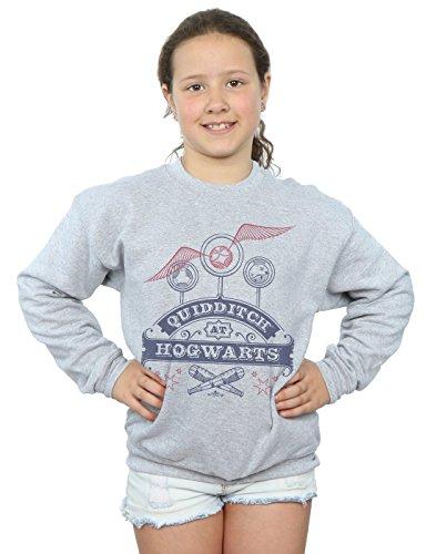 Harry Potter Mädchen Quidditch at Hogwarts Sweatshirt 9-11 Years Sport Grey