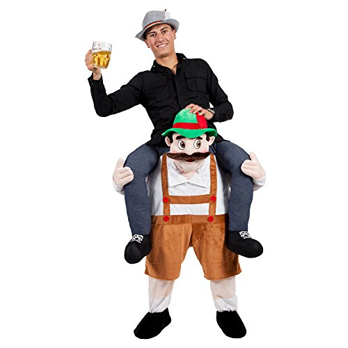 BAVARIAN BEER GUY Carry-me Huckepack MASCOT FANCY DRESS COSTUME
