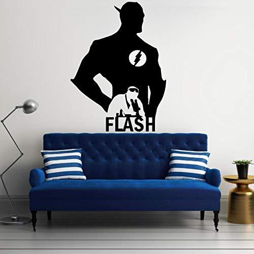 yiyiyaya Berühmte Persönlichkeit Die Flash Silhouette Kunst Wand Poster Cooles Design Home Jungen Schlafzimmer Dekor Vinyl Wandbild Aufklebercm 99x72cm