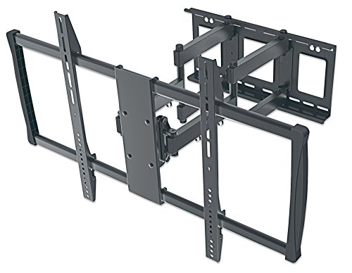 """Manhattan 461221 Universal Wandhalterung für Großbildschirme neigbar und schwenkbar 60\"""" bis 100\"""" bis zu 80 kg schwarz"""