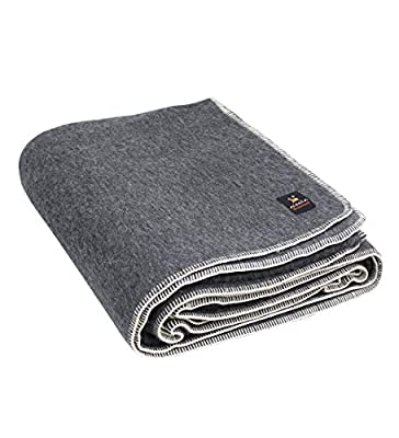 Thick Alpaca Wool Blanket – Heavyweight Alpaca Wool Blanket for Camping Outdoors or Using Indoors | Soft Peruvian Alpaca Wool Blankets That Come in Twin, Queen and King Sizes Fit Any Need (Gray, Twin)
