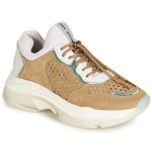 Bronx Baisley Sneaker Damen Weiss/Braun - 39 - Sneaker Low Shoes