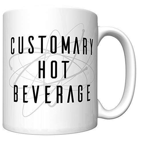 N\A Taza de café Sheldon Cooper 'Bebida Caliente Habitual' de Big Bang Theory (versión más Reciente v2)