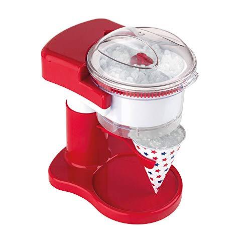 American Originals EK2100AAR Snow Cone Maker Machine, Makes Delicious Ice Treats, Slushies, Crushed Ice, Includes 20 Paper Cones