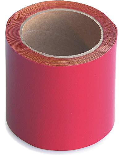 WUPSI PVC Reparatur Klebeband Für Alle Planen Und Folien, Rot, 10 Cm X 5 M