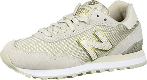 New Balance Women's 515 V1 Sneaker, Oyster/Gold Metallic, 8.5 M US