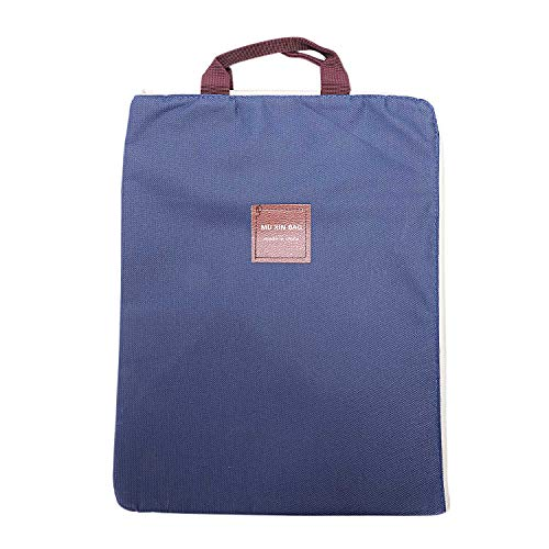 Gaetooely New Laptop Case Canvas Cover Briefcase Carrying Case Cover Handbag For Dom668 Blue
