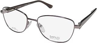 Safilo 6011 Elasta Womens/Ladies Cat Eye Crystals Flexible Hinges Gorgeous Classic Eyeglasses/Eyeglass Frame