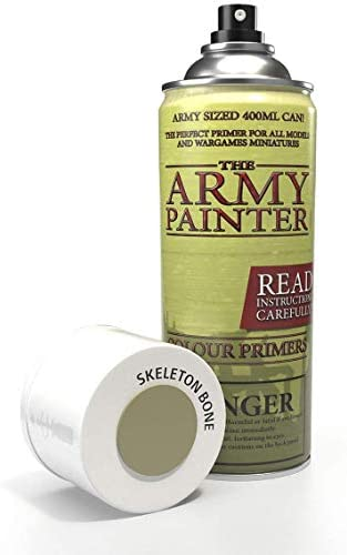 The Army Painter Color Primer, Skeleton Bone, 400 ml, 13.5 oz - Acrylic Spray Undercoat for Miniature Painting