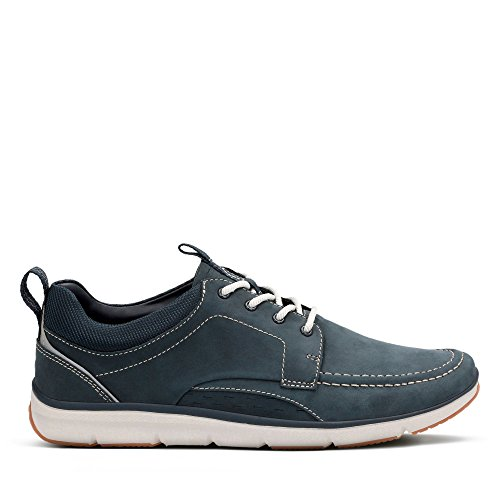 Clarks Herren Orson Bay Sneaker, Blau (Navy Nubuck), 46 EU