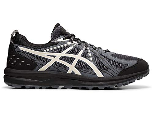 ASICS Men's Frequent Trail Running Shoes, 10.5M, Black/Birch