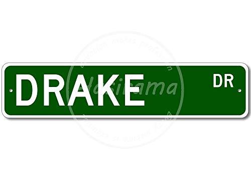 niet DRAKE Street Wall Tin Teken Vintage IJzeren Schilderij Plaque Metal Sheet Retro Gepersonaliseerde Ambachten Waarschuwing Poster Creativiteit Decoratie Art Voor Cafe Bar Garage Cave Man Home