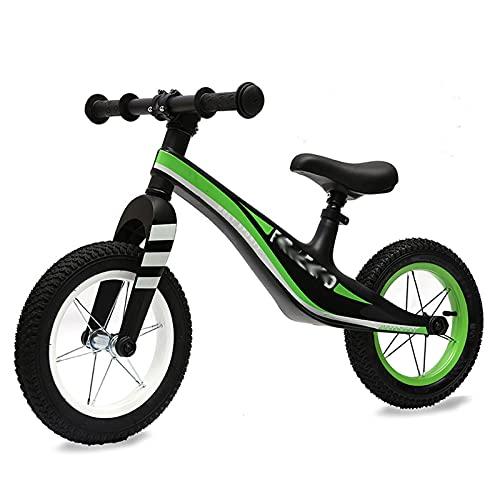 HLEZ Bicicleta Sin Pedales para Niños De 3-6 Años Bicicleta Sin Pedales para Niños Y Niñas Correpasillos Regalos Sillín Regulable Bicicleta Equilibrio con Ruedas De Goma EVA,Negro