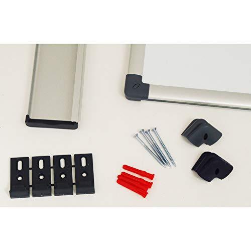Vivol Eco Magnetic Whiteboard 100x150   Aluminium Rahmen   Magnettafel Whiteboardwand Magnetwand   Stiftablage   14 Größen   Magnetisch und Beschreibbar - 5