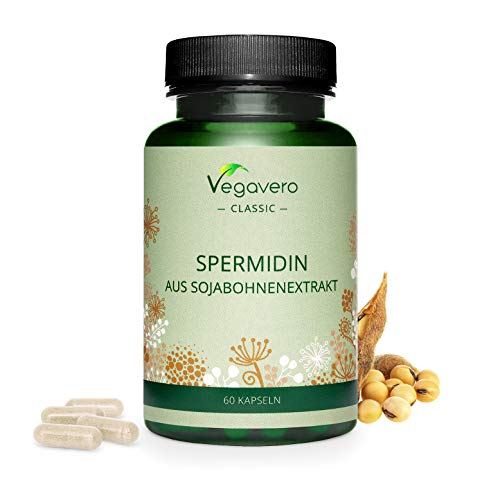 Spermidine Vegavero | Additives-Free & Non-GMO | Standardized to Spermidine | 100% Vegan | 60 Capsules