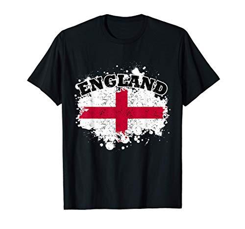 England Fan Trikot Geschenk I England Fussball Flagge T-Shirt