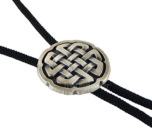 Celtic Knot Bolo Tie Real Silver Plated 35' Fiber Sky Systems Braided Cord - The Best Décor!!!