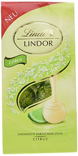 Lindt Lindor Beutel, Citrus, 4er Pack (4 x 137 g)