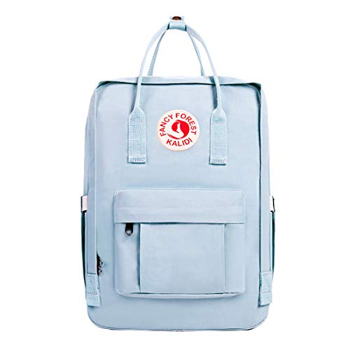KALIDI Casual Backpack for Women,15 Inches Laptop Classic Backpack Camping Rucksack Travel Outdoor Daypack College School Bag (Light Blue)