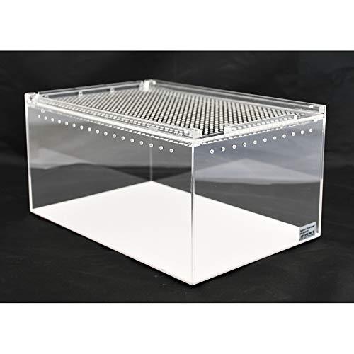 Aquarium-Plüderhausen Acryl- Glas-Terrarium mit Schiebe Deckel 30x20x15 cm,Futtertiere, Reptilien, Amphibien