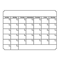 TOOGOO A3ホワイトボードマンスリープランナー 磁気伝言板キッチンデイリー柔軟速報メモボード冷蔵庫マグネット描画カレンダー ホワイト