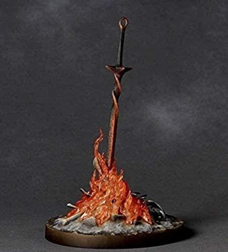 Figura de acción Dark Souls Anime Dolls Brillante Fuego Bonfire Versión Estatua Muñeca Anime Figura Figura de acción para niños 23 cm