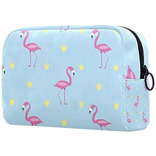 Kosmetiktasche mit Cartoon-Flamingo- und...