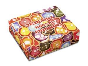 くがにちんすこう 小箱 16個入×14箱 くがに菓子本店 紅型調の華やかなパッケージ 贈答用に