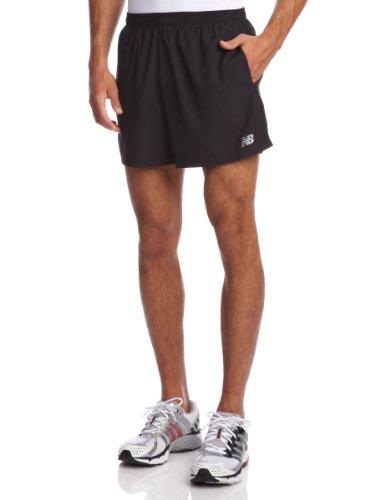New Balance Men's 5-Inch Go 2 Shorts, Black, Large