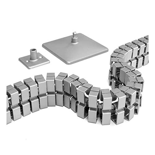 HJHQQ-CZYHG Cadena de Cable Delgada para cableado Limpio en escritorios Ajustables en Altura, 131 cm (Color : Silber)