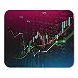 Semtomn Mouse Pad Stock Market Trading Graph in Futuristic Suitable for Financial Mousepad 9.8' x 7.9' for Notebooks,Desktop Computers Mouse Mats, Office Supplies