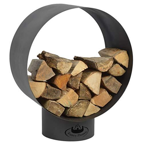 Esschert Design FF282 Boîte à bois ronde moderne en acier
