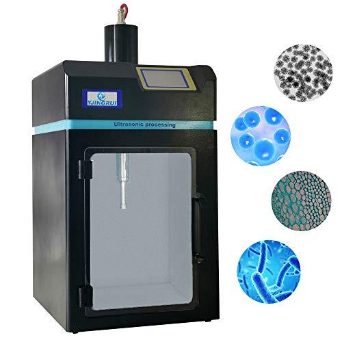 YJINGRUI Ultraschall-Zellaufschlussgerät Integrierter Ultraschall-Homogenisierer Ultraschallgerät zum Aufschluss und zur Extraktion von Zellen mit dreidimensionaler Ultraschallsonde (100W 50uL~10mL)